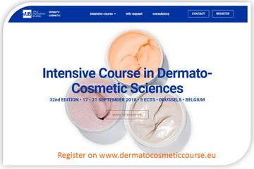 Intensive Course in Dermato-Cosmetic Sciences 2018