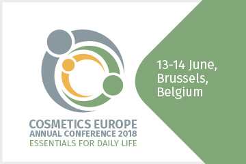 Cosmetics Europe Annual Conference 2018 starts today in Brussels