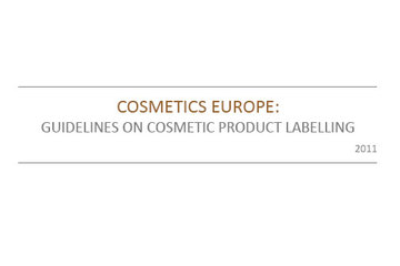 Guidelines on Cosmetic Product Labelling, 2011