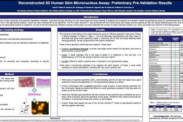 Genotoxicity Task Force at SOT 2013: Reconstructed 3D Human Skin Micronucleus Assay: Preliminary Pre-Validation Results